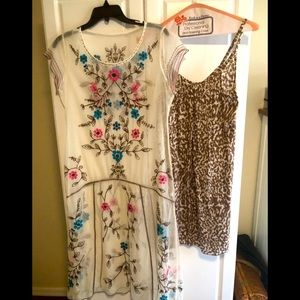 Bohemian Flower/Leopard Dress